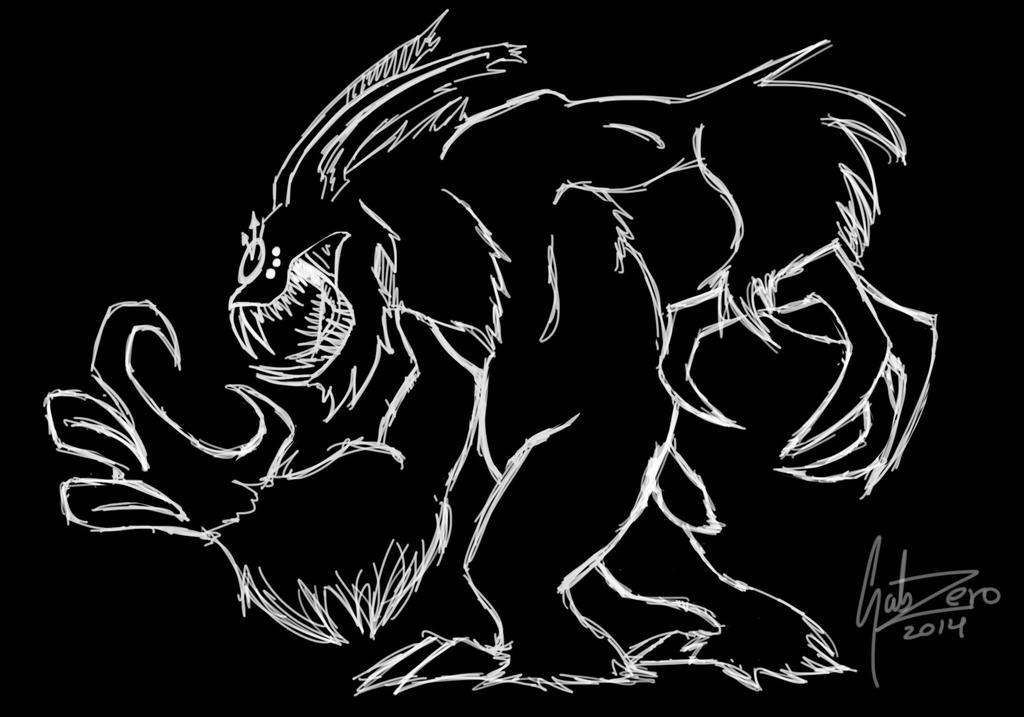 Academia de Magia Clock_bunny_monster_by_gabrianne-d7krh71