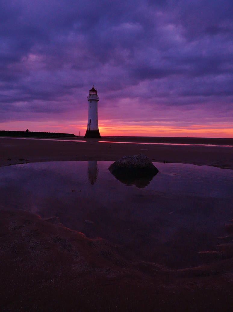 New Brighton Lighthouse at Sunset 2