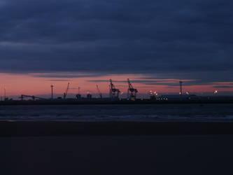 Liverpool Docks at Sunset