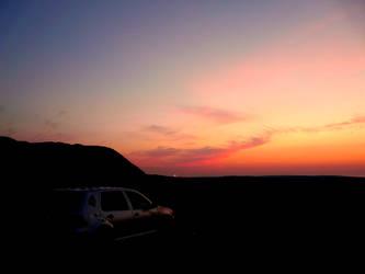 Car at Sunset