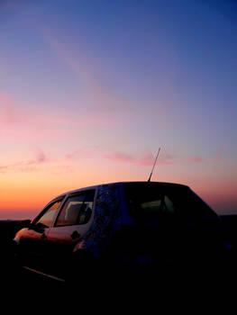 Car at Sunset 2