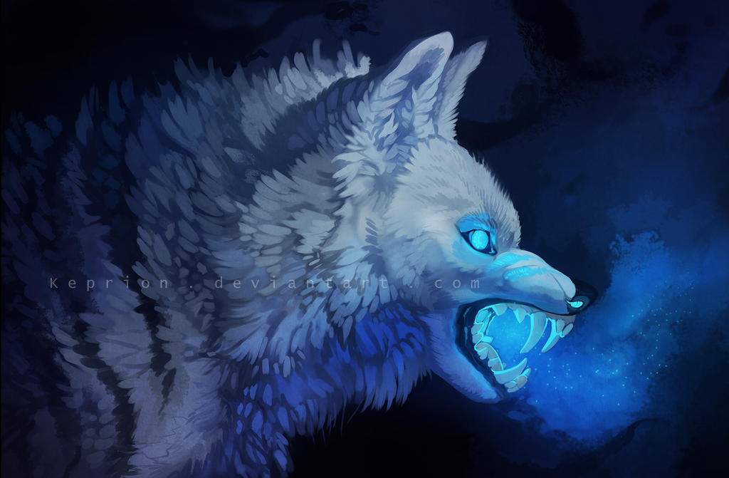 Blue Flaming Wolf | www.pixshark.com - Images Galleries ...