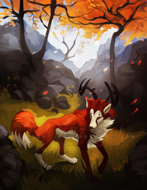 A dear in the forest by Keprion