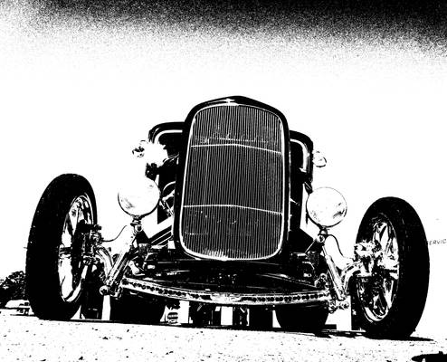 Street Rod In Abstract