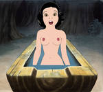 Rough Draft of Snow White Washing Before Supper by ArtLiberty20