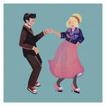 Tenth Doctor and Rose by SolvinaShakall