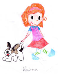 Icetruck Girl and Doggy