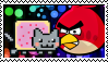 Nyan Cat X Angry Birds Stamp by LegendaryDragon90
