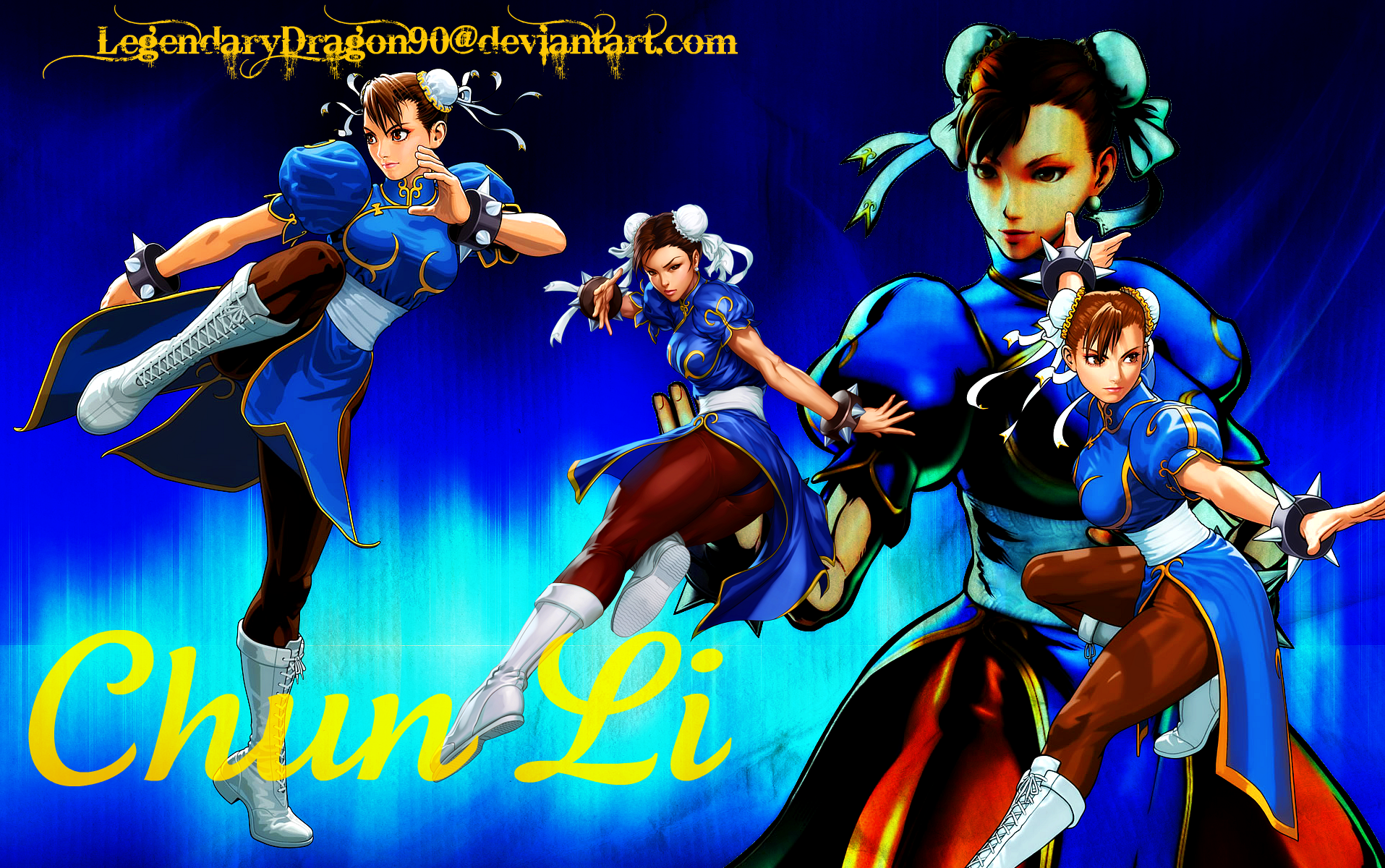 Chun Li Wallpaper by LegendaryDragon90