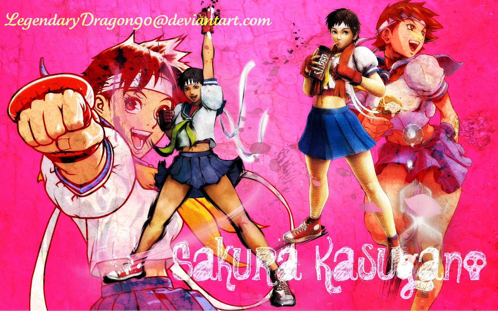Sakura Street Fighter Wallpaper