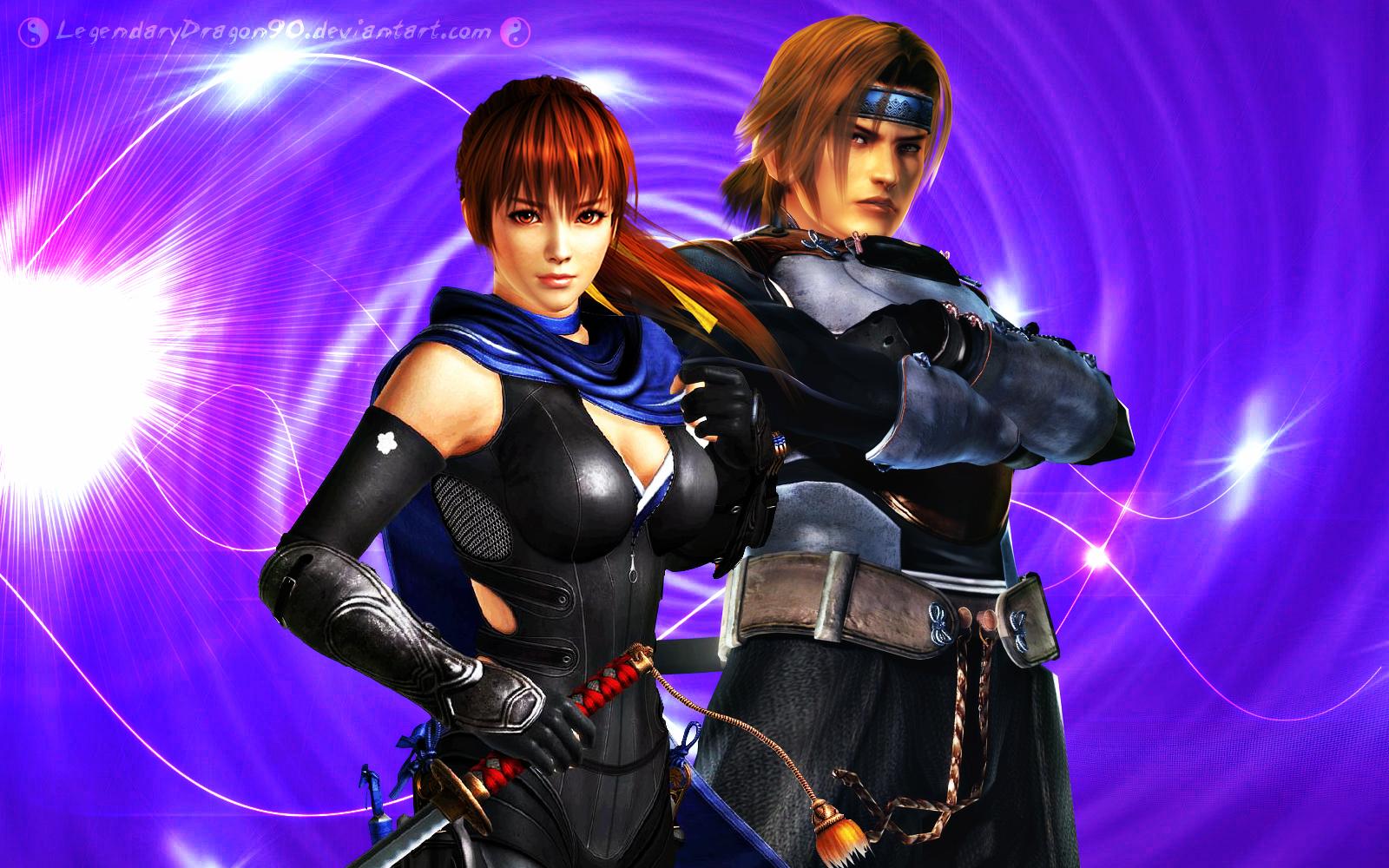 Ninja Siblings - Kasumi and Hayate by LegendaryDragon90