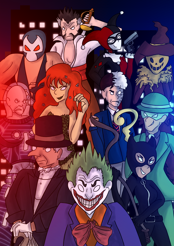 Bat-villains by Cammadolph