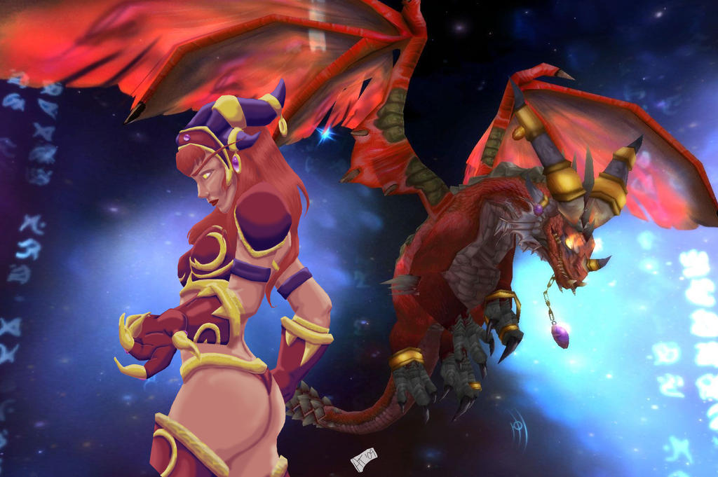 I made an Alexstrasza Live Wallpaper (For Android) : hearthstone