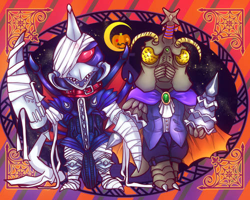 Gigan and Megalon(Halloween)