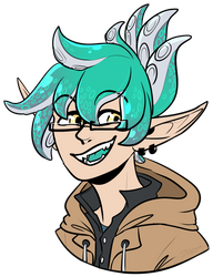[ART TRADE] - hes a kid hes a squid