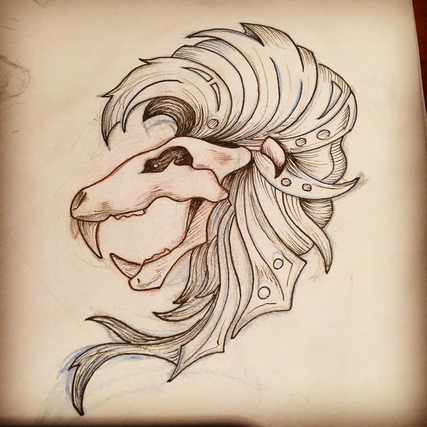 Lion Skull by KymbosArt