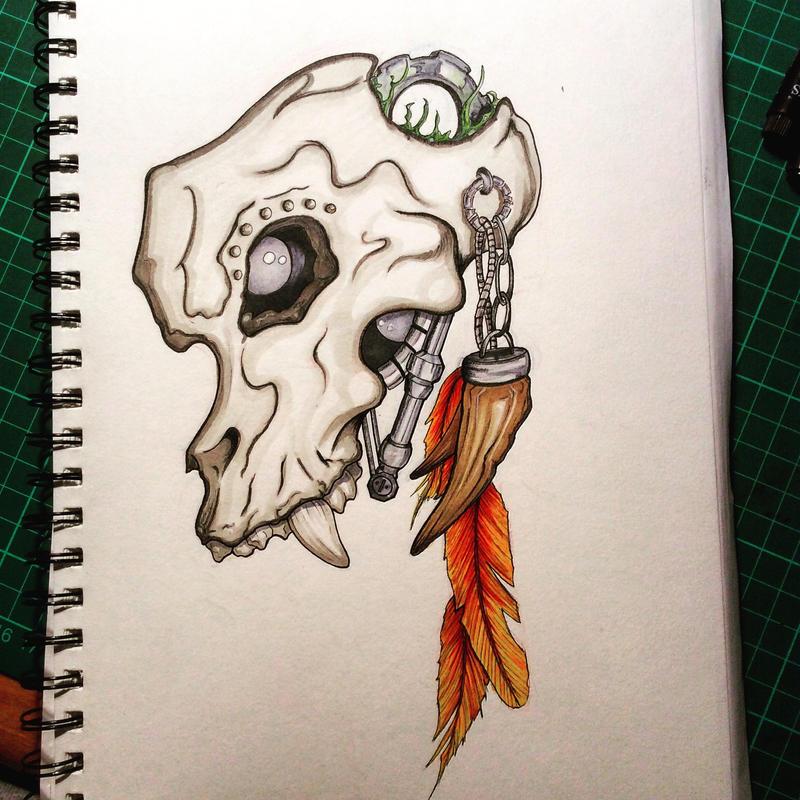 Bio Skull by KymbosArt
