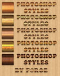 Wood Patterned Photoshop Layer Styles