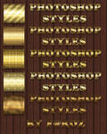 Gorgeous Gold Photoshop Layer Styles / ASL