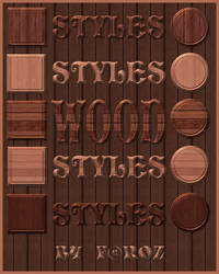 Great Wood Photoshop Layer Styles / ASL