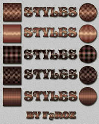 Special copper Photoshop Layer Styles