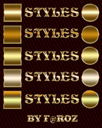 Gorgeous Gold Text Photoshop Layer Styles / ASL