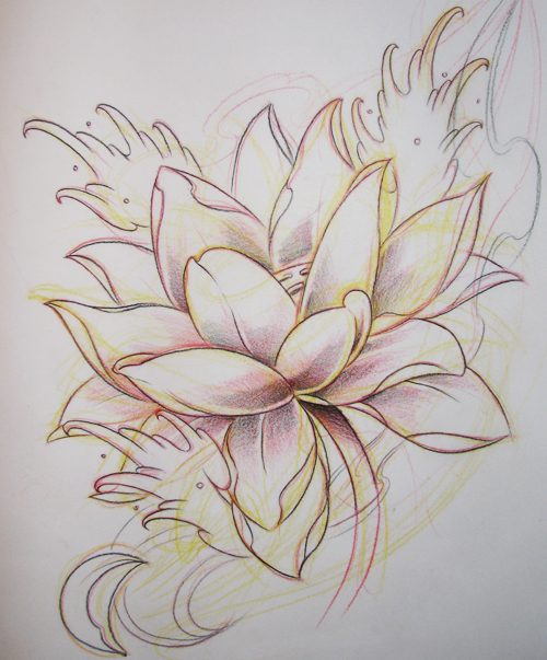 lotus flash 01 - flower tattoo