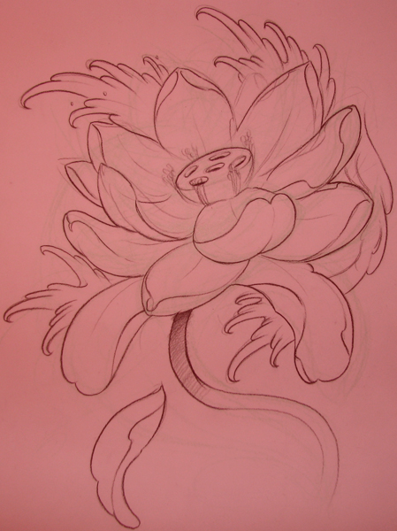 lotus flash 02 - flower tattoo