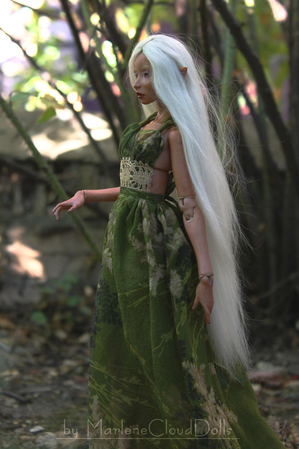 Porcelain BJD - Green Elf by MarleneCloudDolls