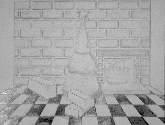 Christmas Scene Drawing by James-Finley on DeviantArt