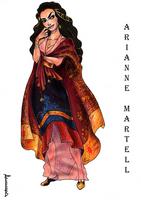 Arianne's costume sketch by ProKriK