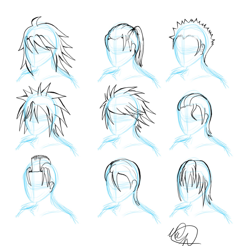 Anime Male Hairstyles Orangenuke Short