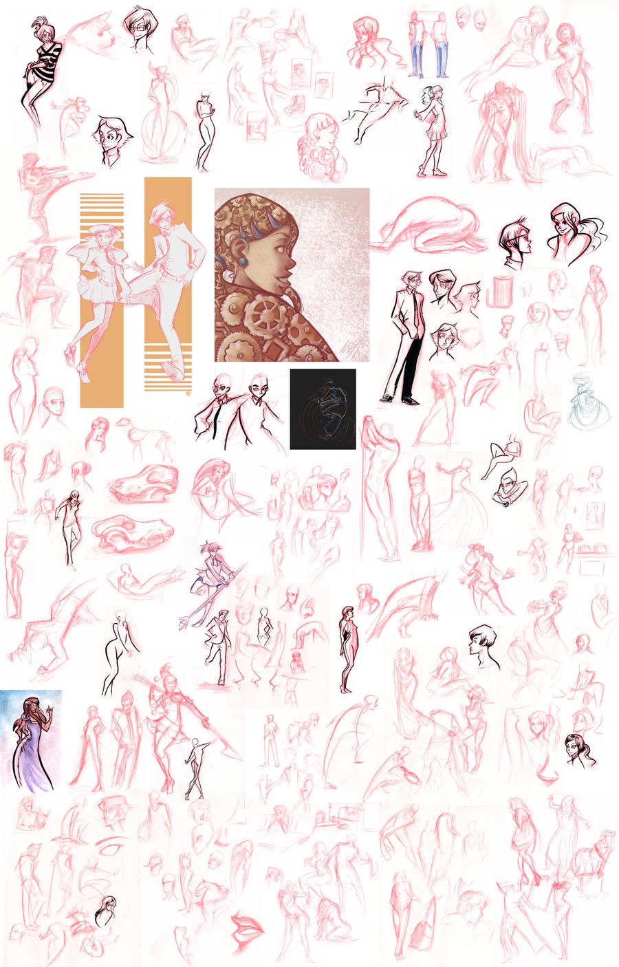 Sketchdump - Apr. '12 by Nikki0417