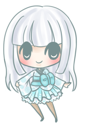 Snow Girl Chibi by sleepypandie
