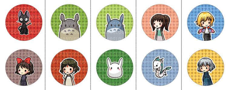 Derpy Studio Ghibli Buttons by sleepypandie