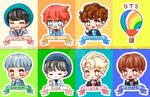 [ chibi ] bts stickers