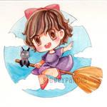 [ watercolor chibi ] kiki's delivery service
