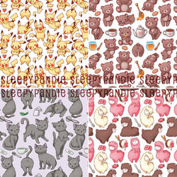 cute animals repeating patterns