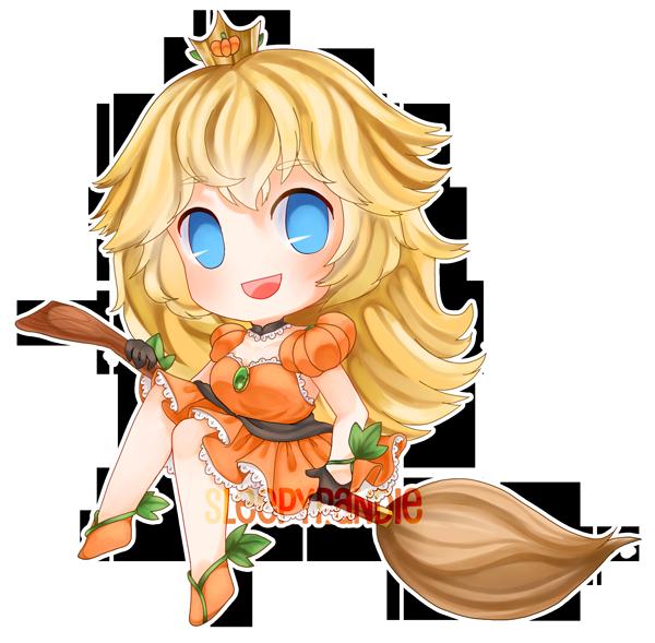 [ chibi ] pumpkin princess peach