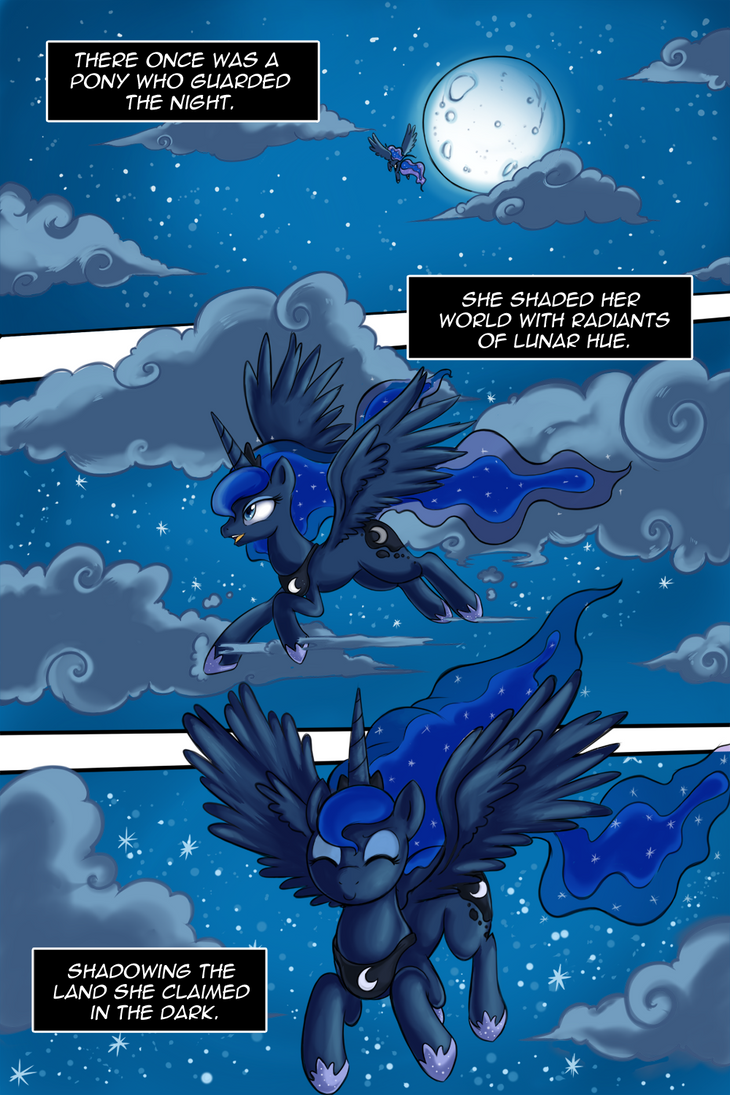 MLP The Fallen Moon Chapter 1 page 1 by Crystal-Secret