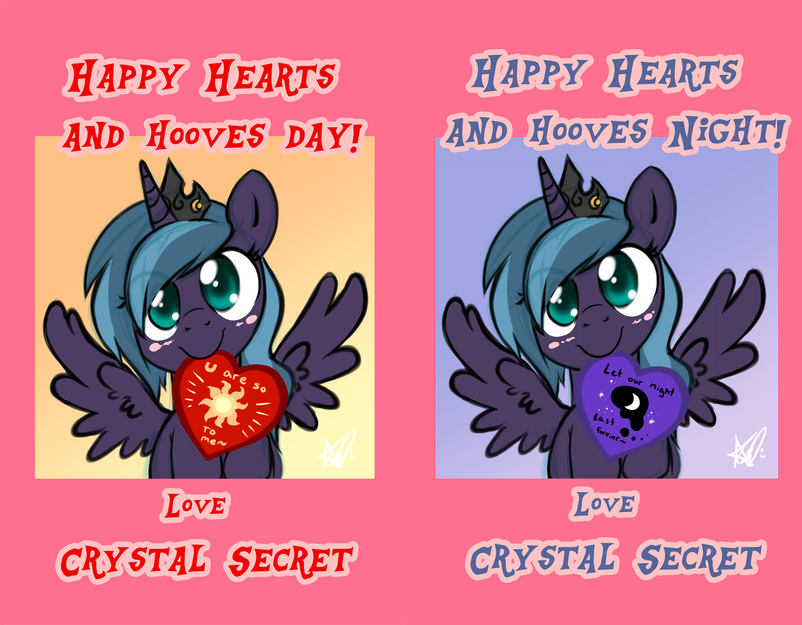 Happy Hearts and Hooves Day by Crystal-Secret