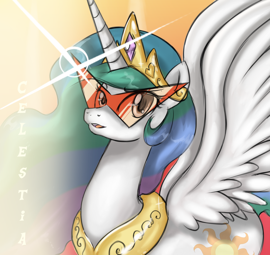 Celestia is Kamina by Crystal-Secret