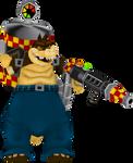 Dingodile (Crash Twinsanity) Render