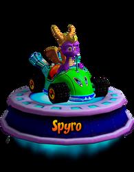 Spyro (CNK Kart Showcase) Render by CRASHARKI