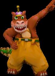 Dingodile (Crash Nitro Kart) Render by CRASHARKI