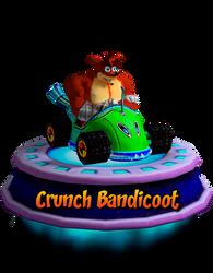 Crunch Bandicoot Trance (CNK Kart Showcase) Render by CRASHARKI