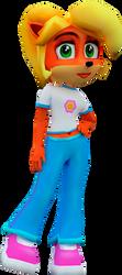 Coco Bandicoot (Crash Nitro Kart) Render 2 by CRASHARKI