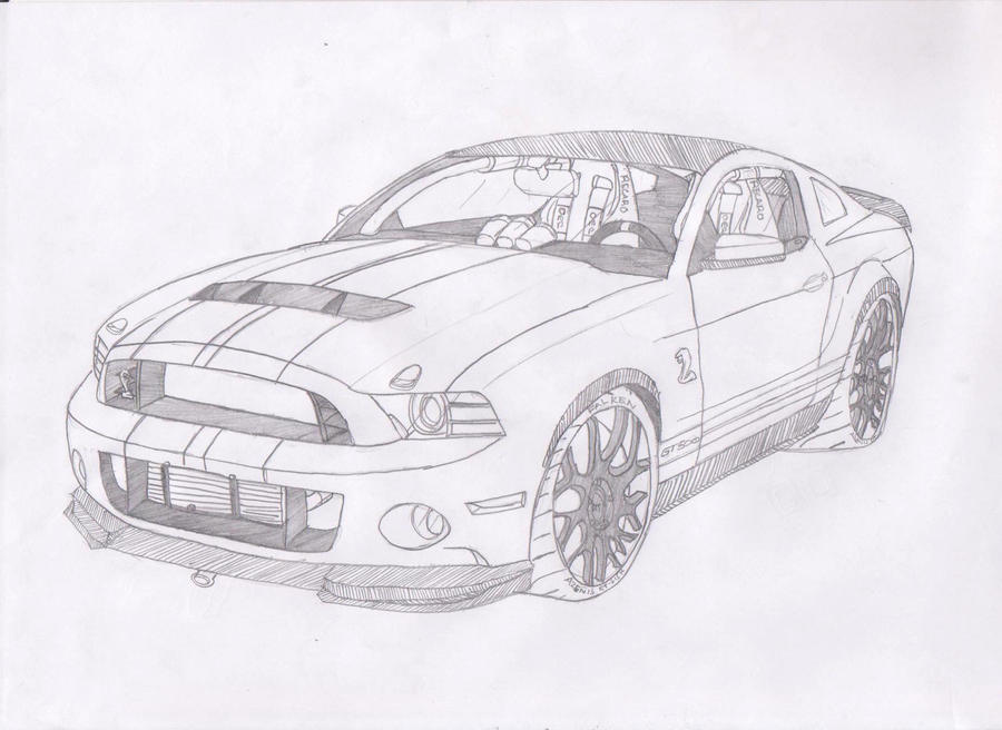 how to draw a ford mustang shelby gt500. Black Bedroom Furniture Sets. Home Design Ideas
