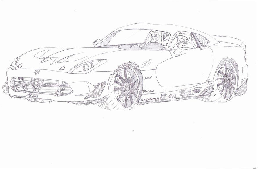 How To Draw Viper Car