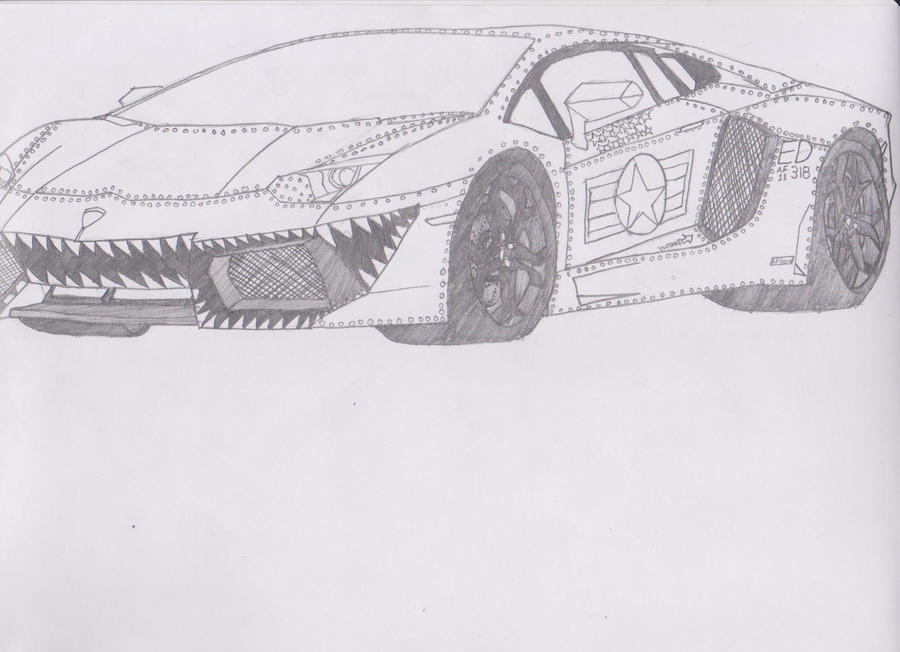 usaf lamborghini aventador by jmig3 lamborghini pic drawing - Lamborghini Black And White Drawing